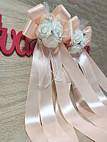 Украшение на ручку свадебных машин Букет Роз. Цвет персиковый. Цена за 2 шт.