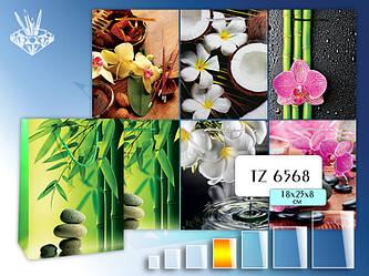 Пакет подарочный бумажный; (18х23х8 см) EXOTIC FLOWERS