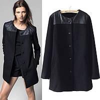 Женское черное пальто. Реплика MANGO
