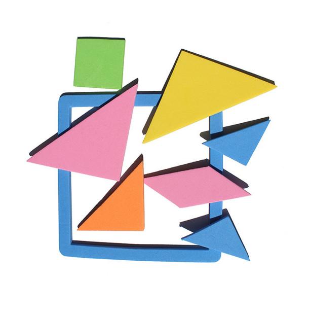 Детская разноцветная развивающая игрушка! Цветная геометрическая головоломка для обучения в игровой форме!