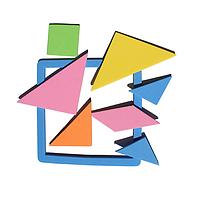 Детская разноцветная развивающая игрушка! Цветная геометрическая головоломка для обучения в игровой форме!, фото 1