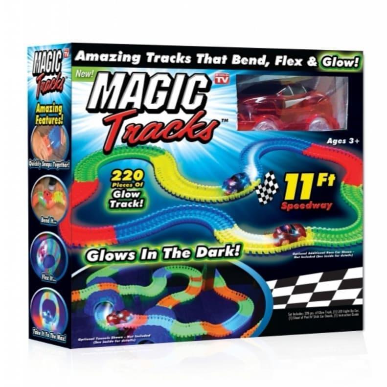 Гоночная трасса Magic Tracks 220 деталей + машинка (ITMT220)