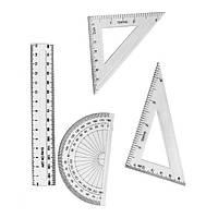 Набор линеек 15 см. 4 предмета
