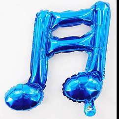 Фольгированный шар двойная нота музыкальная мини фигура синяя 41 см