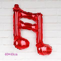 Фольгированный шар двойная нота музыкальная мини фигура красная 41 см