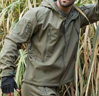 Тактическая куртка Soft shell ESDY 8 карманов, Олива