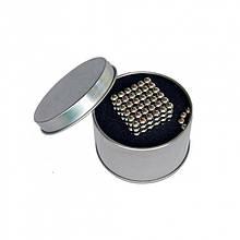 Головоломка Neocube конструктор неокуб 216 магнитных шариков диаметром 5 мм в металлической коробке Серебро (iTNC2)