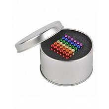 Головоломка Neocube конструктор неокуб 216 магнитных шариков диаметром 5 мм в металлической коробке Разноцветный (iTNC1)