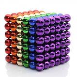 Головоломка Neocube конструктор неокуб 216 магнитных шариков диаметром 5 мм в металлической коробке Разноцветный (iTNC1), фото 2