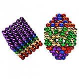 Головоломка Neocube конструктор неокуб 216 магнитных шариков диаметром 5 мм в металлической коробке Разноцветный (iTNC1), фото 3