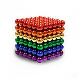 Головоломка Neocube конструктор неокуб 216 магнитных шариков диаметром 5 мм в металлической коробке Разноцветный (iTNC1), фото 4