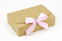 "Коробка ""Стильная-мини"" М0028-о9 крафт, размер: 195*130*50 мм, фото 1"