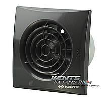 Вентс 100 Квайт В чёрный ( со шнурковым выключателем). Бытовой вытяжной вентилятор