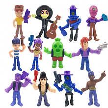 Игровой набор Бравл Старс - популярные фигурки героев игры (12 шт), игрушки персонажи Brawl Stars (без упаковки): Спайк, Поко, Джесси, Френк, Рикошет,