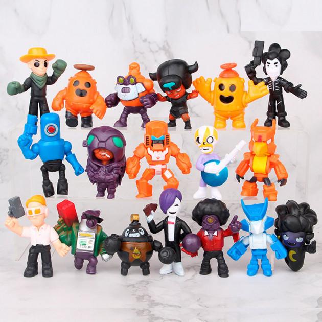 Большой игровой набор Бравл Старс (18 любимых героев) - фигурки новых персонажей игры (без упаковки), игрушки Brawl Stars (iTBS5-18)