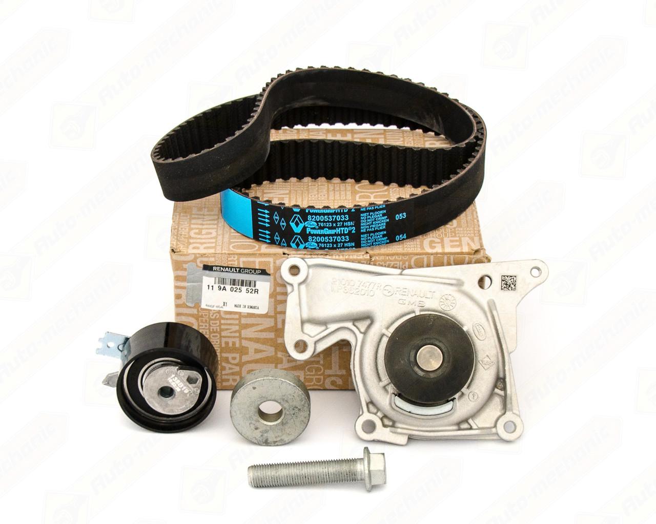 Комплект натягувач + ремінь ГРМ на Renault Logan II 2012-> 1.5 dCi — Renault (Оригінал) - 119A02552R
