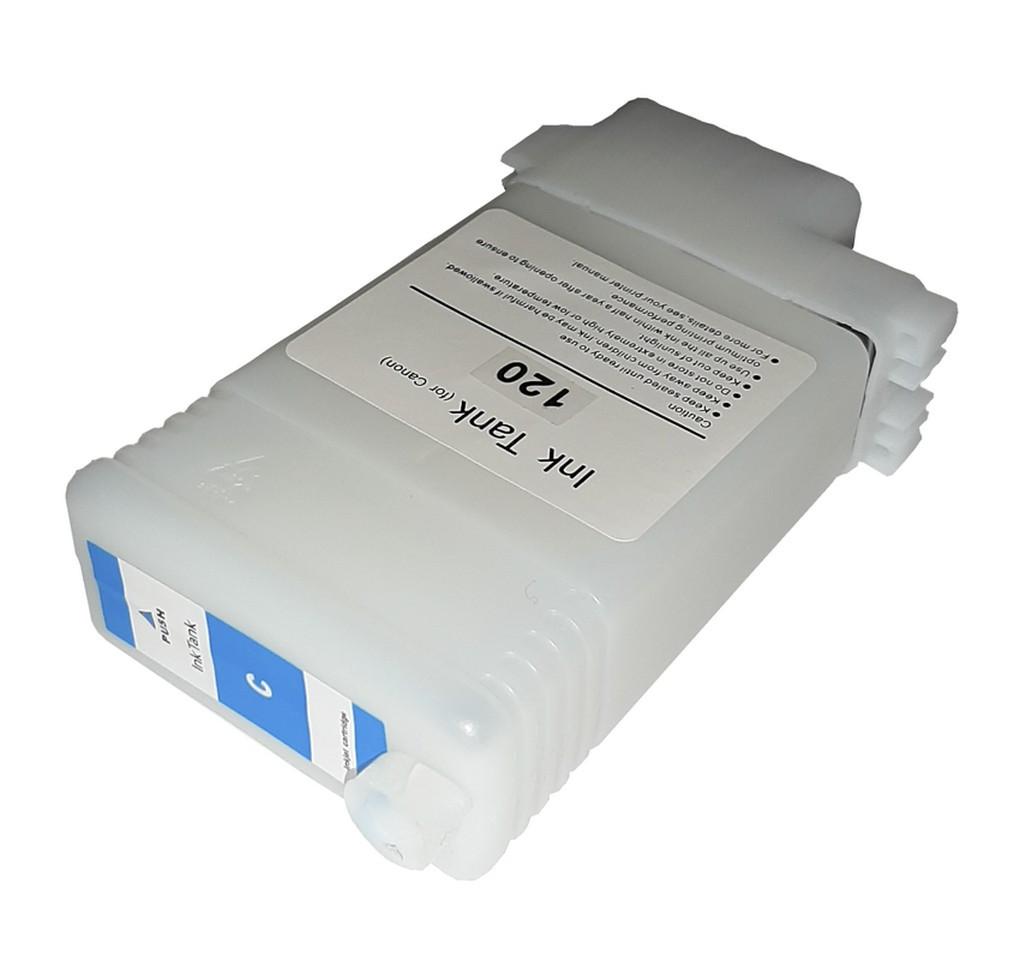 Перезаправляемый картридж Ocbestjet для плоттеров Canon iPF670/iPF770 с чипом PFI-107 Cyan (130 мл)