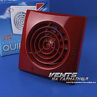 Вентс 125 Квайт красный. Бытовой вытяжной вентилятор