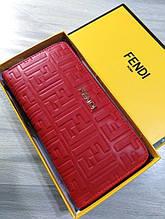 Жіночий гаманець в стилі Fendi, Фенді Копія Lux, червоний колір