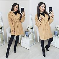Стильное пальто имитация барашка (3 цвета)