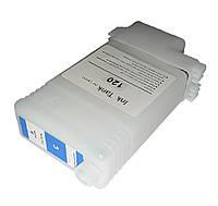 Перезаправляемый картридж Ocbestjet для плоттеров Canon iPF605/iPF710 с чипом PFI-102 Cyan (130 мл)