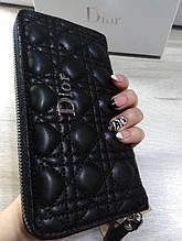 Жіночий гаманець в стилі Dior Діор Копія Lux колір чорний
