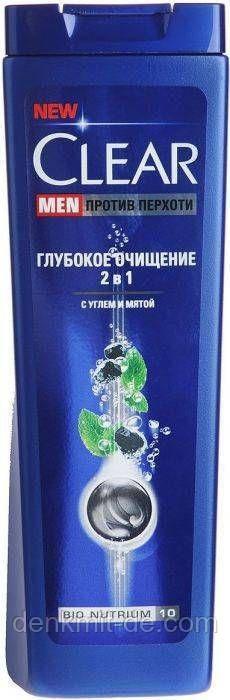 Шампунь-бальзам проти лупи Clear для чоловіків Глибоке очищення шкіри, 400 мл