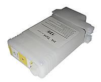 Перезаправляемый картридж Ocbestjet для плоттеров Canon iPF650/iPF750 с чипом PFI-102 Yellow (130 мл)