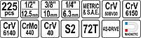 Набор инструментов 225 предметов YATO YT-38941, фото 5