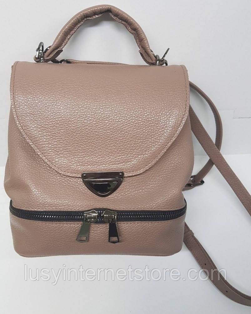 Сумка рюкзак шкіряна жіноча від виробника модель СР10-3