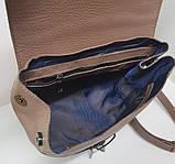Сумка рюкзак шкіряна жіноча від виробника модель СР10-3, фото 3