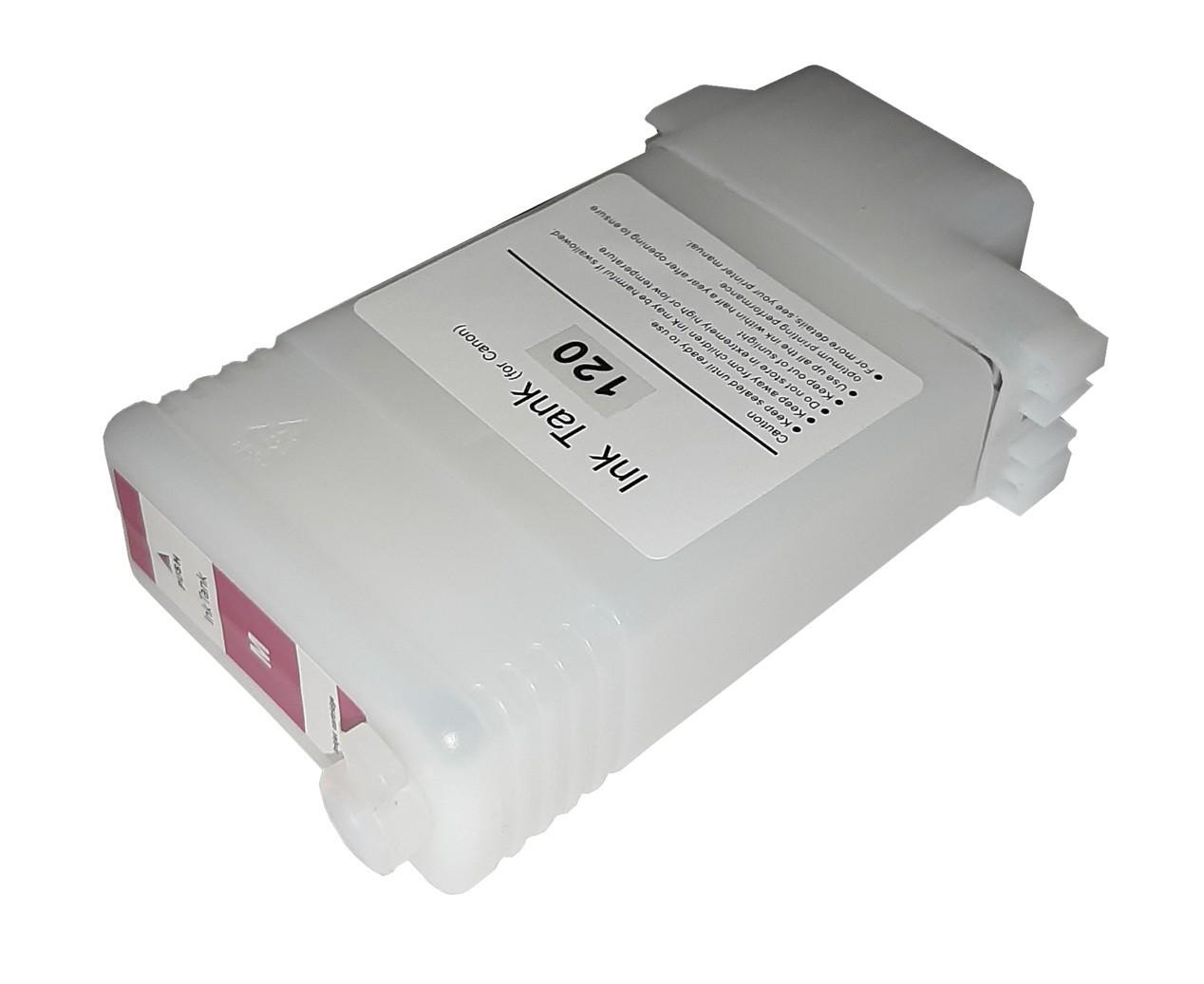 Перезаправляемый картридж Ocbestjet для плоттеров Canon TM-200/300 с чипом PFI-120 Magenta (130 мл)