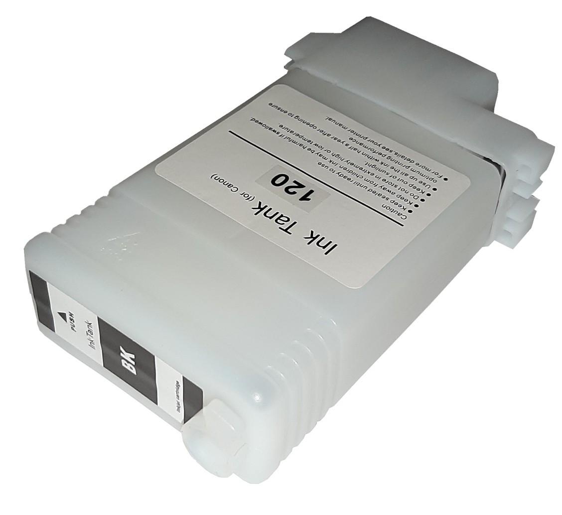 Перезаправляемый картридж Ocbestjet для плоттеров Canon TM-200/300 с чипом PFI-120 Black (130 мл)