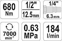 Ударный пневматический гайковерт YATO YT-09524, фото 5