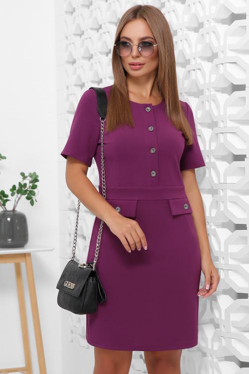 Повседневное женское платье фиолетовое