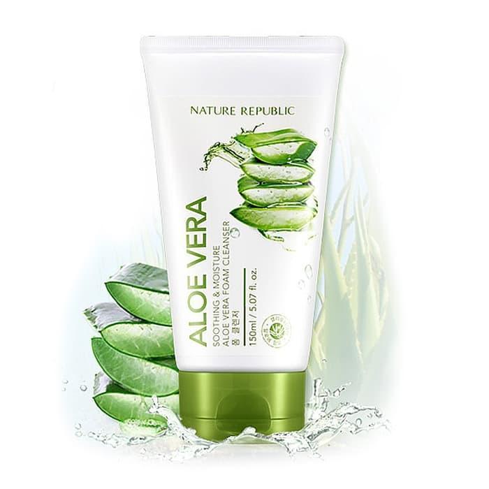 Пенка для умывания с экстрактом алоэ вера Nature Republic Soothing & Moisture Aloe Vera Foam Cleanser 150ml
