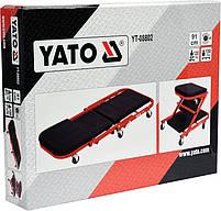 Лежак подкатной для авторемонта 2 в 1 YATO YT-08802, фото 4