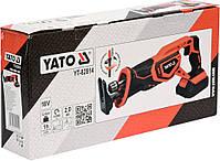 Пила сабельная аккумуляторная YATO YT-82814, фото 3