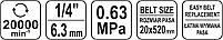 Пневмошлифмашина ленточная 20х520мм YATO YT-09742, фото 4