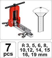 Преcс для ручного расширения труб 3-19 мм YATO YT-2180, фото 5