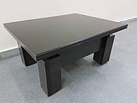 """Стол трансформер со стеклом Лакобель """"Оптимус"""", цвет венге"""