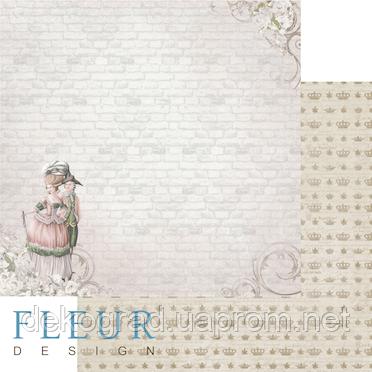 """Лист бумаги для скрапбукинга """"Прогулка Луизы"""", коллекция """"Джентиль"""", 30х30, плотность 190 гр."""