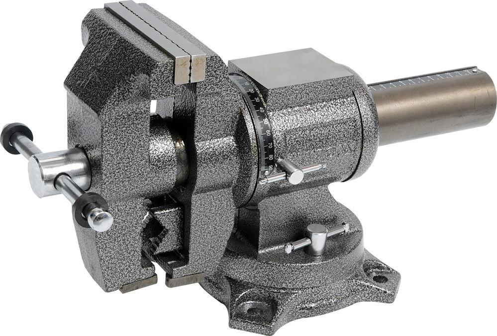 Наклоняемые поворотные слесарные тиски 100мм YATO YT-6505