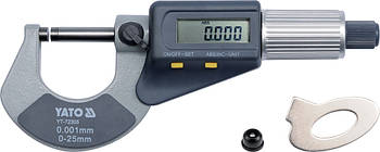 Микрометр электронный 0-25 мм YATO YT-72305