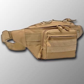 """🔥 Поясная сумка """"Esdy - Y109"""" (койот) бананка, поясная сумка, тактическая сумка"""
