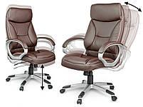 Кожаное офисное кресло Sofotel EG-223 коричневое, фото 4