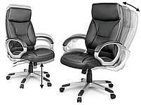 Кожаное офисное кресло Sofotel EG-223 черное, фото 3