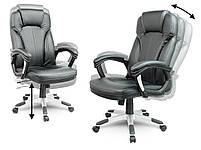 Кожаное офисное кресло Sofotel EG-222 черное, фото 3