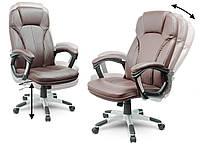 Кожаное офисное кресло Sofotel EG-222 коричневое, фото 3
