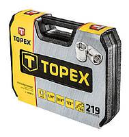 """Набор инструментов TOPEX 38D852 1/2"""", 1/4"""" и 3/8"""", 219 предметов, фото 4"""